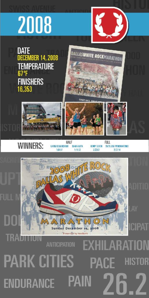 2008 Dallas Marathon info