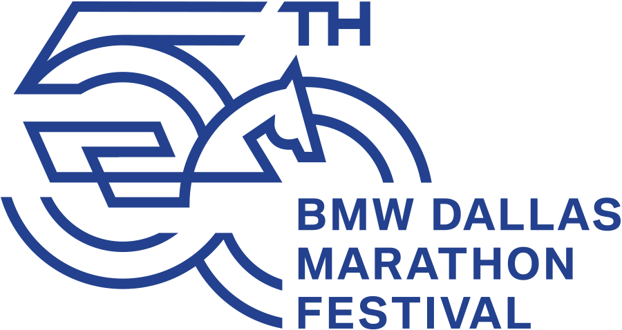 BMW Dallas Marathon Festival 50th Anniversary Logo