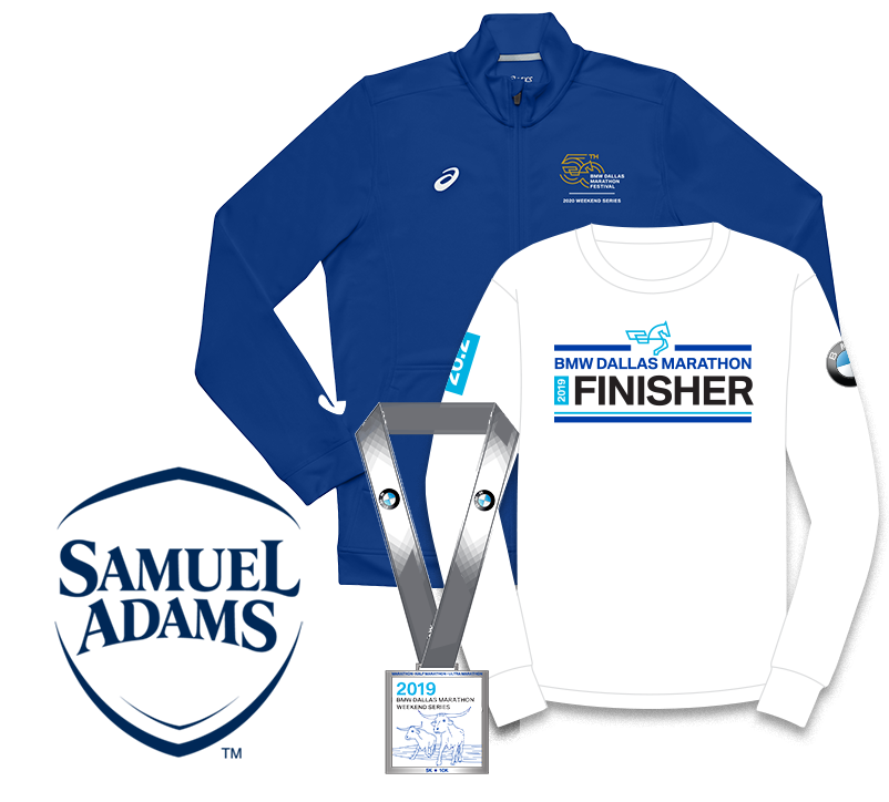 50th Anniversary Jacket, Participant Shirt, Medal and Samuel Adams Logo